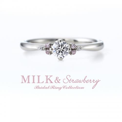 ミルク&ストロベリー婚約指輪