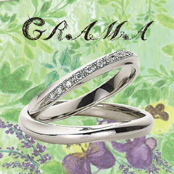 GRAMAペパーミント結婚指輪