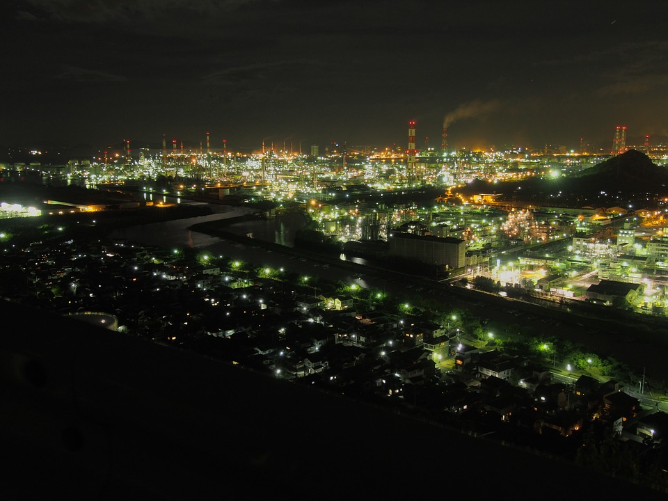姫路近郊プロポーズスポット|水島コンビナート夜景クルーズ