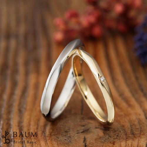 BAUMのハナミズキの結婚指輪(マリッジリング)姫路