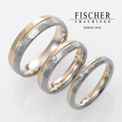 おしゃれな結婚指輪(マリッジリング)FISCHER2層デザイン
