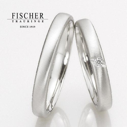 FISCHER(フィッシャー)で鍛造製法の結婚指輪です。9650139/9750139