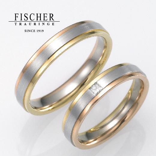 FISCHER(フィッシャー)で鍛造製法の結婚指輪です。9650152WR/9750152WR