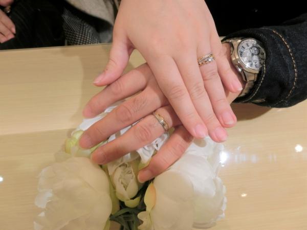 自分達だけの指輪ができて良かったです。