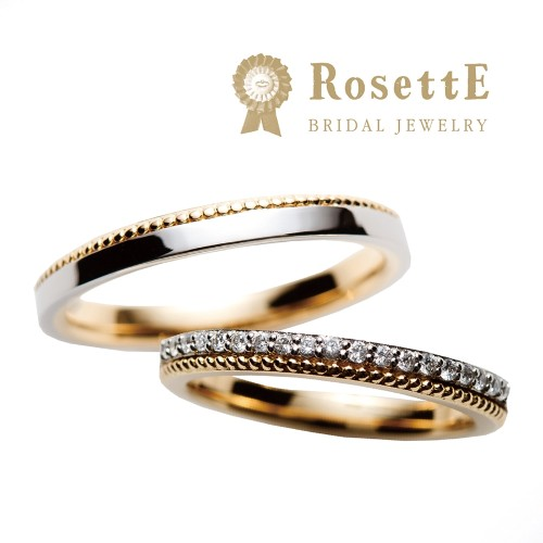 おしゃれな結婚指輪(マリッジリング)RosettEしずく