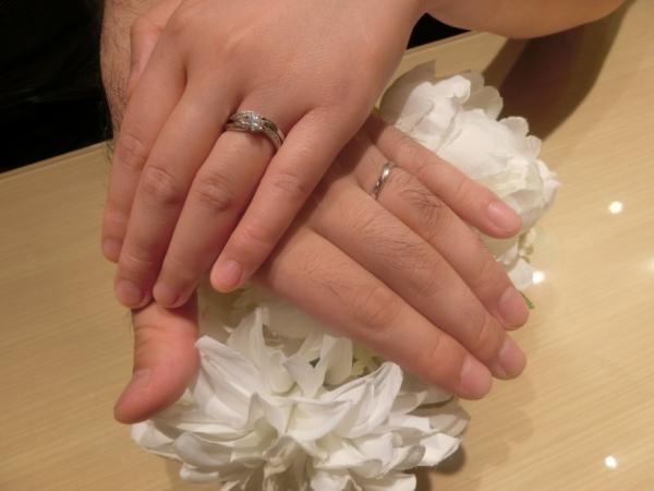 満足のいく指輪を受け取りました。