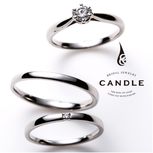 CANDLE【キャンドル】Round/ラウンド婚約指輪・結婚指輪重ね付け