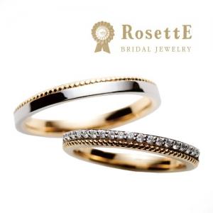 RosettE(ロゼット)しずく結婚指輪