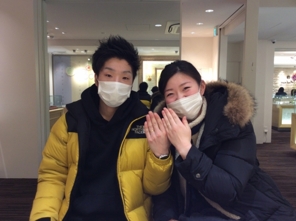 FISCHERの結婚指輪をペアで購入頂きました!(兵庫県神崎郡)