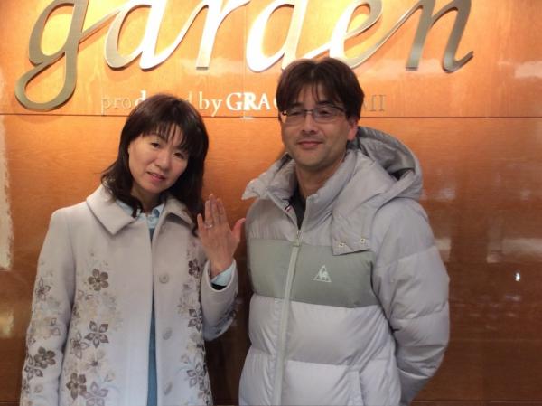 ご結婚19年目!UneMariage 婚約指輪をご成約頂きました 〈姫路市〉