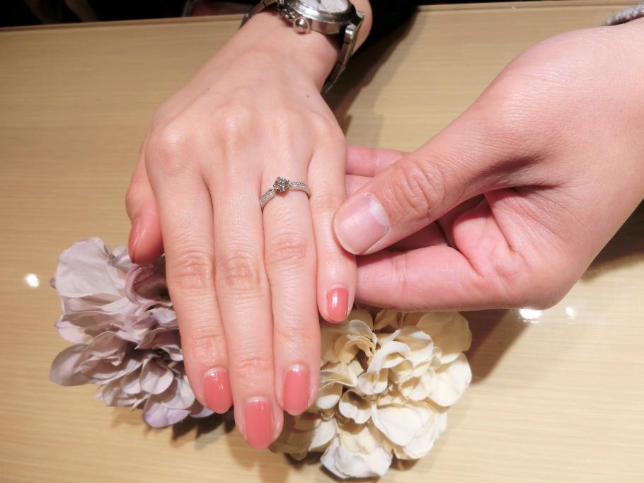 神戸市 gardenオリジナルの婚約指輪をご成約頂きました。