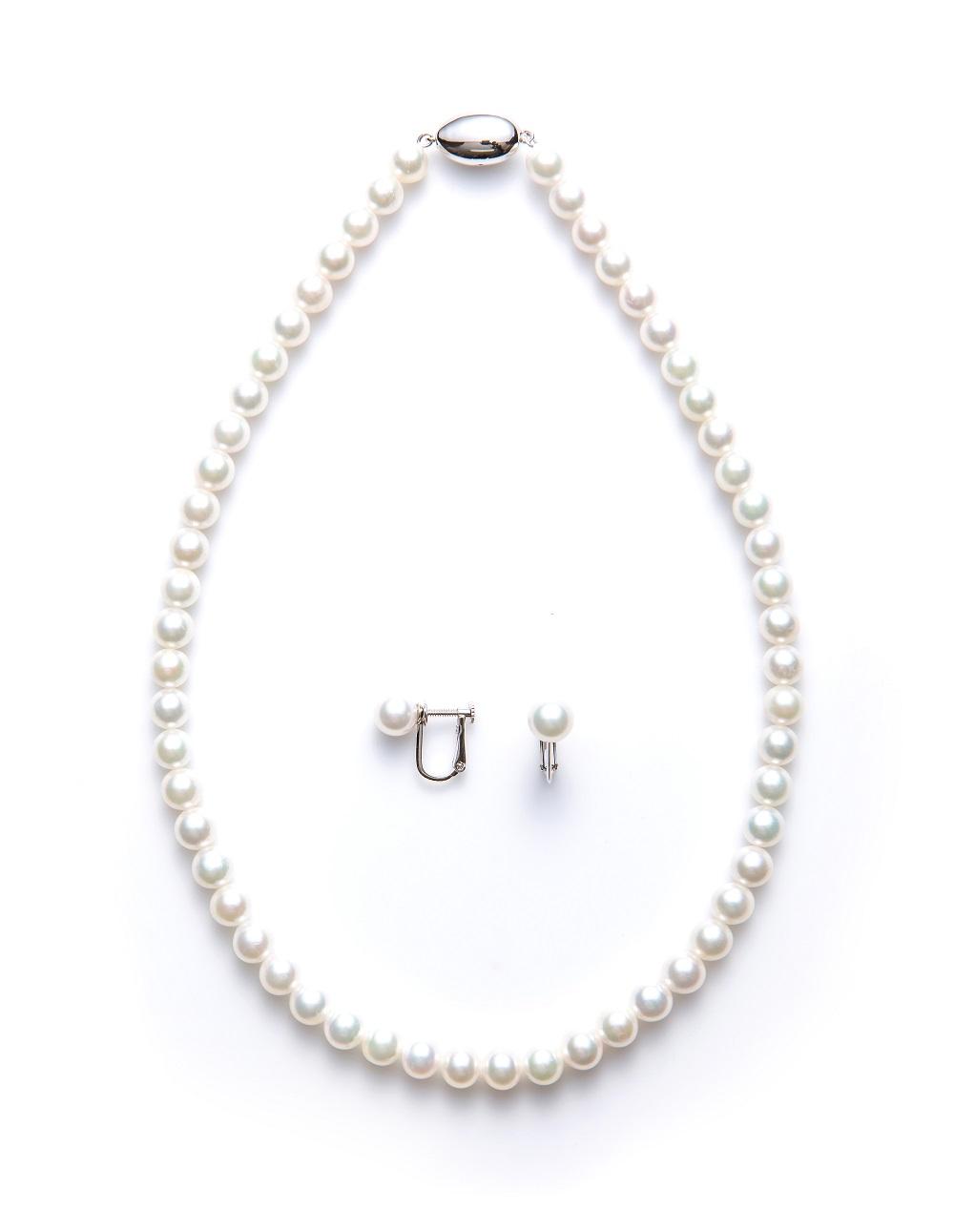 真珠ネックレス・真珠イヤリングセット