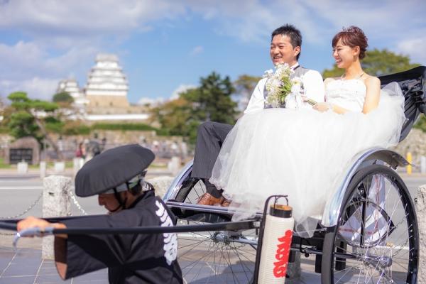 姫路でフォトウエディングならgarden姫路へ|世界遺産姫路城|人力車