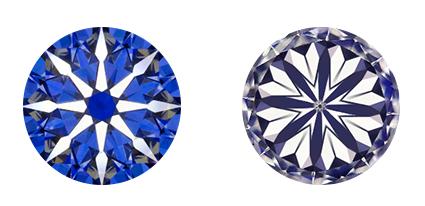 ダイヤモンドのH&C(ハート&キューピット)写真