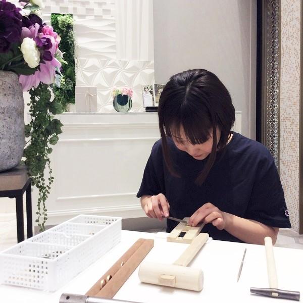 結婚指輪のお客様も手作り指輪の作製
