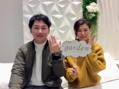 【姫路市】gardenオリジナルエンゲージリングと美女と野獣の結婚指輪をご成約頂きました