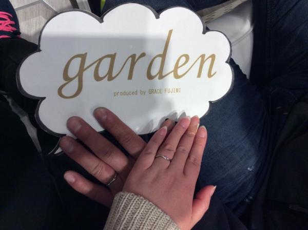 結婚指輪をご成約頂けました。