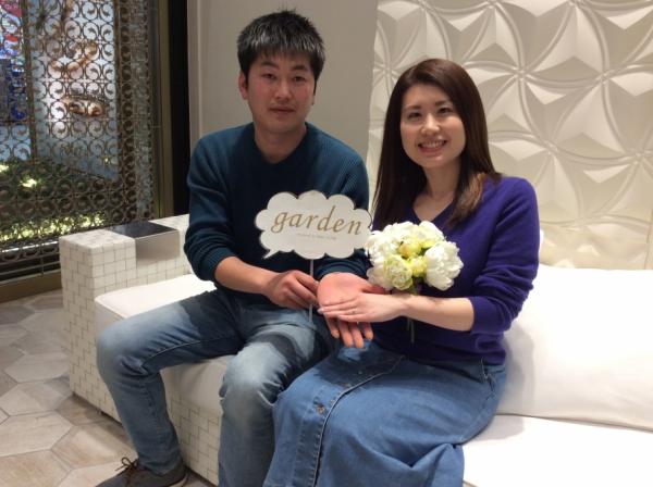 【姫路市】gardenオリジナルの婚約指輪をご成約