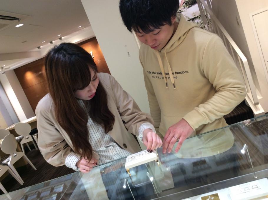 garden姫路で婚約指輪をご成約頂きました。