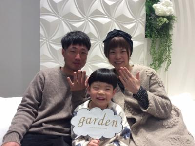garden姫路でFISCHERの結婚指輪を購入頂きました。