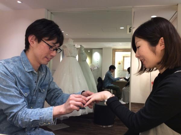 FISCHERの結婚指輪は鍛造製法で大変丈夫です。