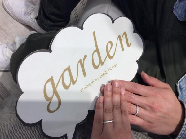 garden姫路店で結婚指輪をご成約頂きありがとうございました。