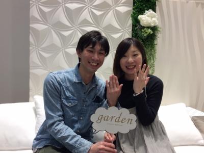 garden姫路でFISCHERの結婚指輪をご成約頂きました。