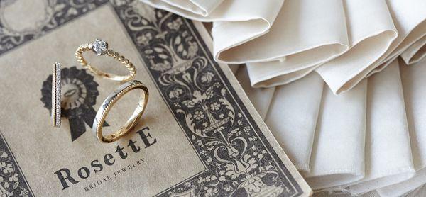 アンティーク調な婚約指輪・結婚指輪の特集でブランドのRosettE(ロゼット)の説明の画像