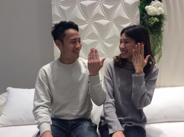 katamuの結婚指輪です