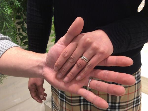 【姫路市】gardenオリジナルの婚約指輪とLapageの結婚指輪をペアでご成約