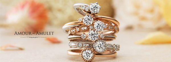 アンティーク調な婚約指輪・結婚指輪の特集でブランドのアムールアミュレットを説明する画像