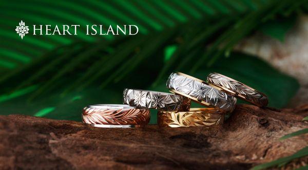 ハワイアンジュエリー特集でブライダルブランドのHEART ISLAND(ハートアイランド)を紹介する画像