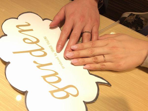 【高砂市】アムールアミュレットの結婚指輪をご成約いただきました。