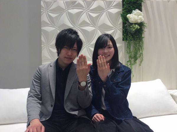【姫路市】ひなの結婚指輪をご成約いただきました。