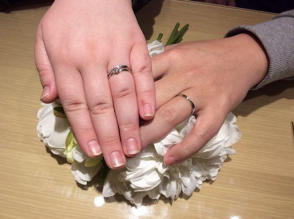 【姫路市】gardenオリジナル婚約指輪・Twins Cupidの結婚指輪をご成約