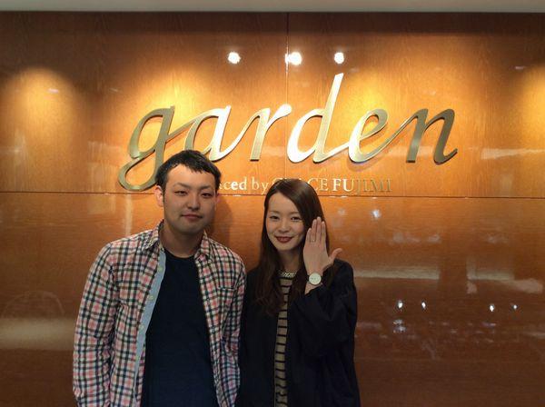 【姫路市】gardenオリジナル婚約指輪をご成約頂きました。