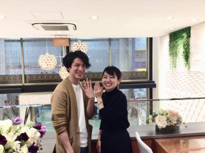 garden姫路店で結婚指輪をご成約頂きました。
