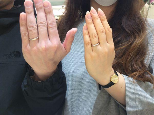 姫路市「OCTAVE」結婚指輪をご成約いただきました。