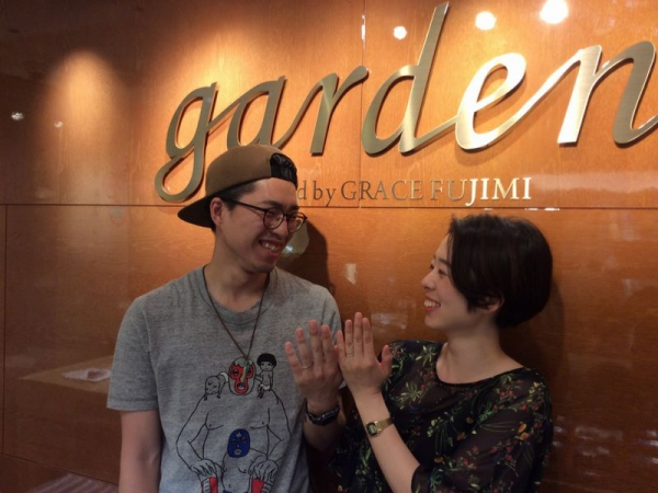姫路市「OCTAVE」「GRAMA」の結婚指輪をご成約頂きました。