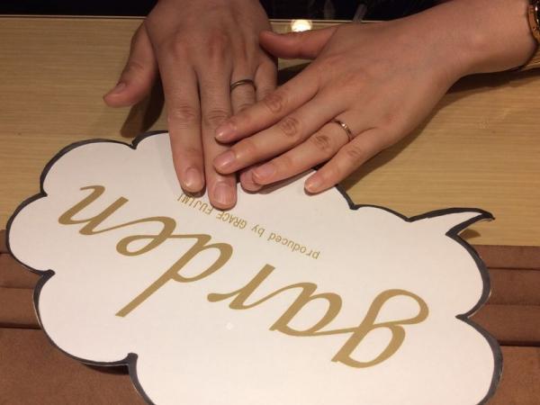 直感で選んだ結婚指輪