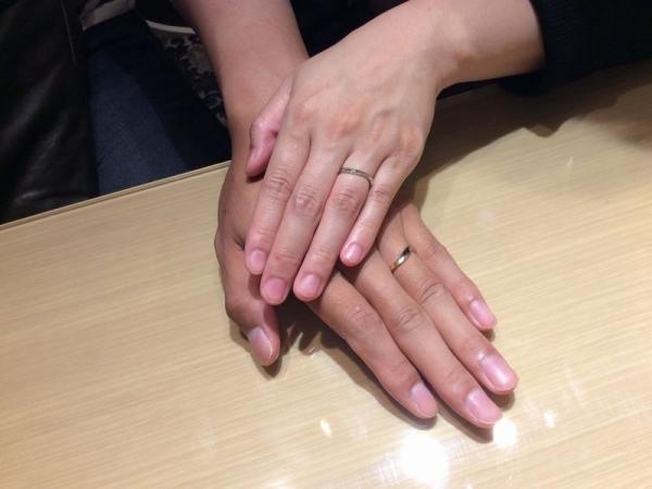 ラパージュとマリアージュエントの結婚指輪ペア