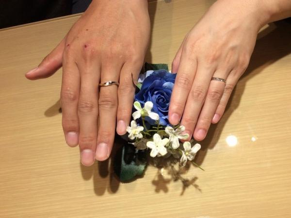 明石市「LAPAGE」「Mariage ent」の結婚指輪をご成約頂きました。