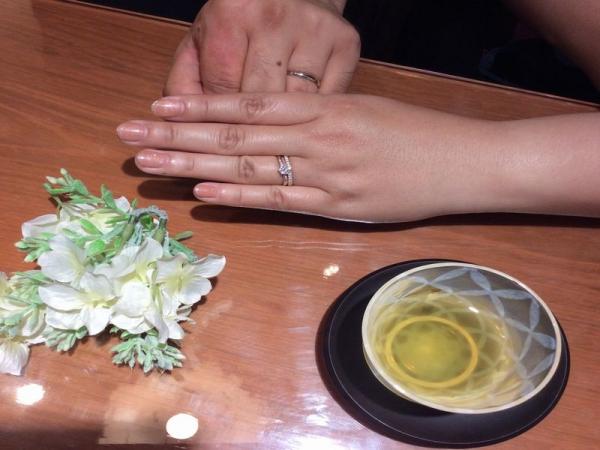 結婚指輪、婚約指輪重ねづけ