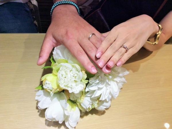 オクターヴとアムールアミュレット結婚指輪