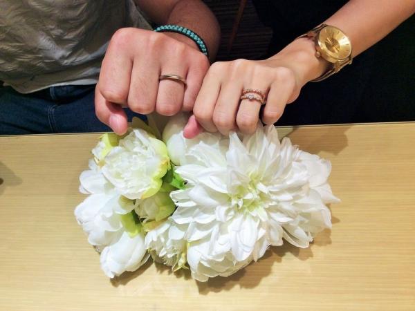 姫路市「AMOUR AMULET」の婚約指輪、「OCTAVE」「AMOUR AMULET」の結婚指輪ご成約