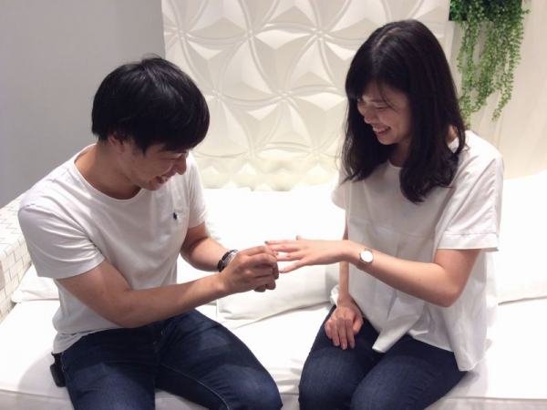 姫路市&東京都大田区「OnlyYou」「VIVAGE」の結婚指輪をご成約頂きました。