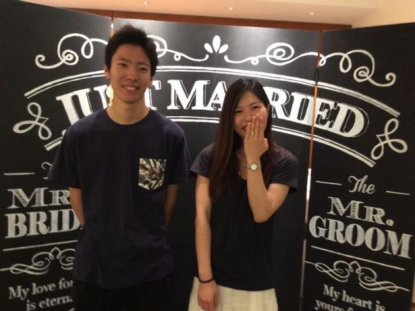 姫路市「Mariage」婚約指輪をご成約頂きました。
