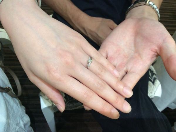 Mariage entの婚約指輪プルミエールでプロポーズ