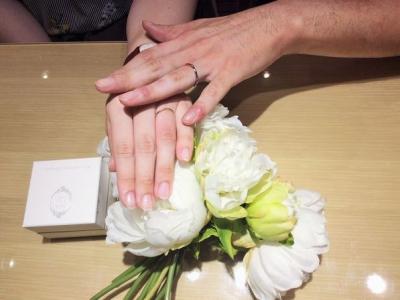 ミルク&ストロベリー結婚指輪