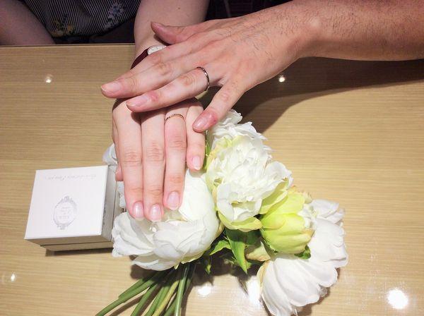 加古川市&相生市「MILK&Strawberry」の結婚指輪をご成約頂きまました。